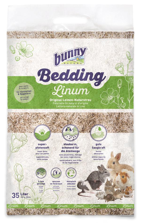 Bunny Nature podestýlka Linum 35 l