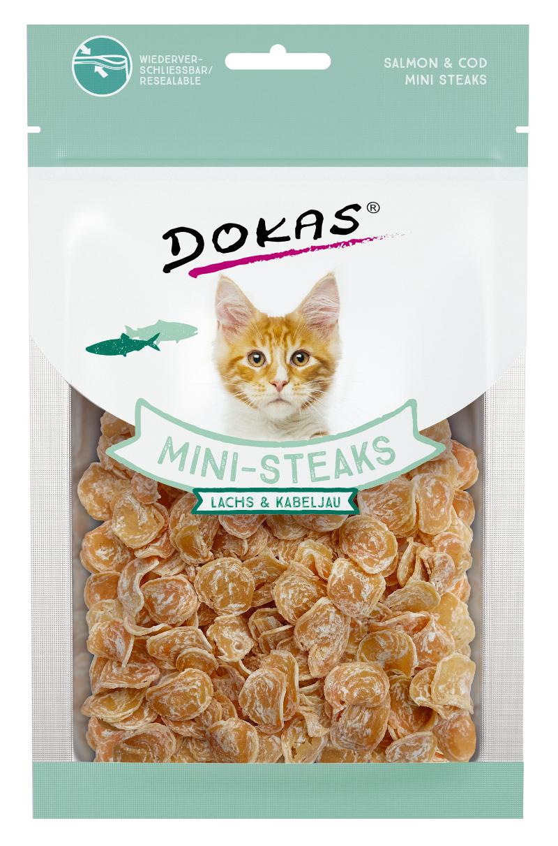 Dokas - Losos a treska mini steaky pro kočky 40 g