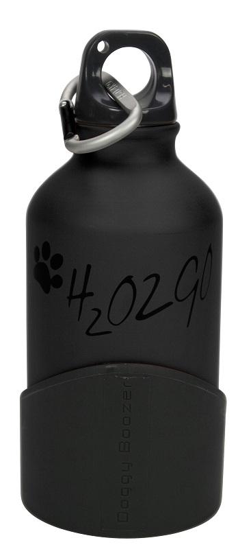 Láhev na vodu H2O2GO - 350 ml - černá