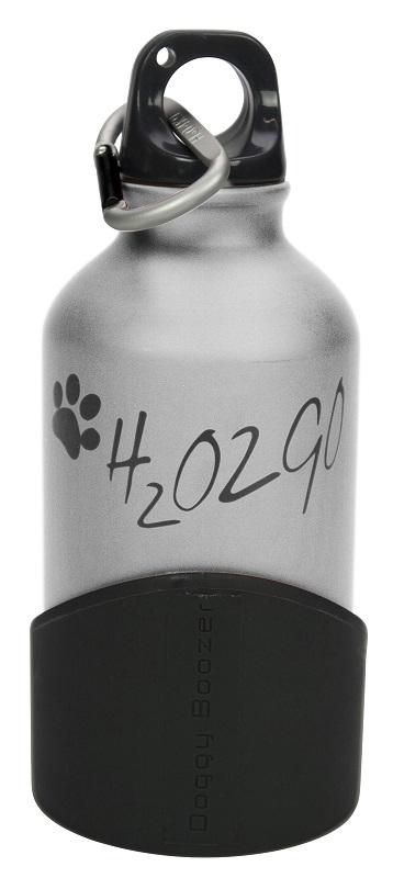Láhev na vodu H2O2GO - 350 ml - stříbrná