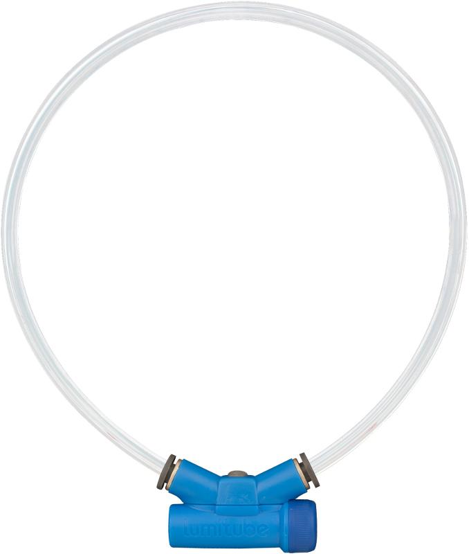 Obojek Lumitube S-M - 15 - 50 cm - modrý