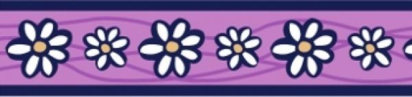 Ob. polos. RD 15 mm x 26-40 cm- Daisy Chain Purple