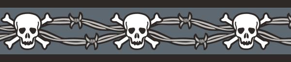 Ob. polos. RD 15 mm x 26-40 cm- Skull & Wire Black