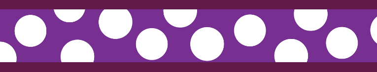 Ob. pol.RD 25 mm x 41-62 cm- White Spots on Purple