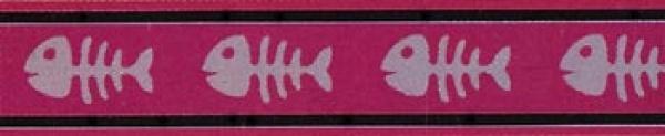 Obojek pro kočky - Fishbone Red