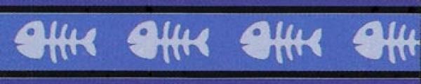 Obojek pro kočky - Fishbone Blue