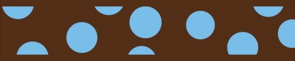 Obojek pro kočky  - Blue Spots on Brown