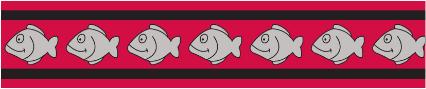 Obojek pro kočky - Fish Rfx - Červená