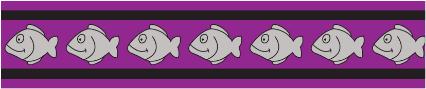 Obojek pro kočky - Fish Rfx - Fialová