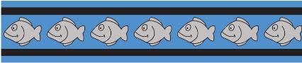Obojek pro kočky - Fish Rfx - Středně Modrá