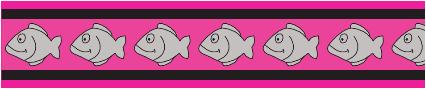 Obojek pro kočky - Fish Rfx - Tmavě Růžová