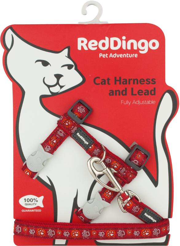 Postroj RD s vodítkem - kočka- Paw Impressions RE