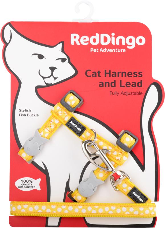 Postroj RD s vodítkem-kočka- White Spots on Yellow