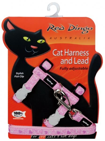 Postroj RD s vodítkem - kočka - Breezy Love Pink