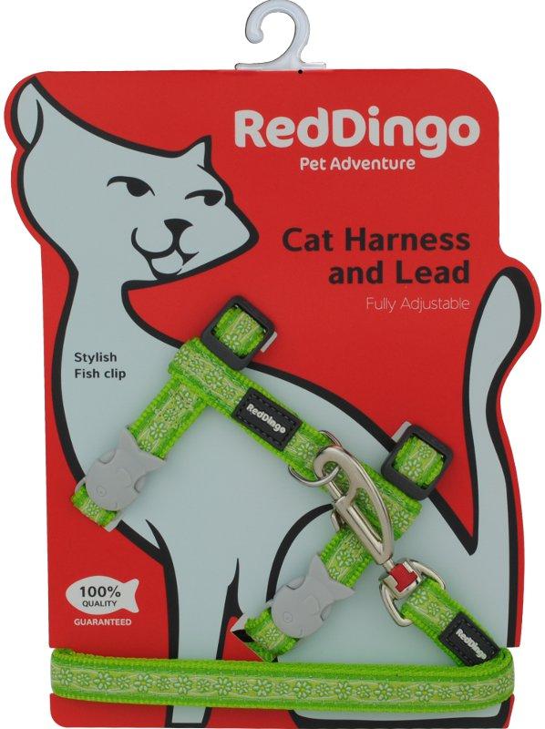 Postroj RD s vodítkem - kočka- Daisy Chain Lime
