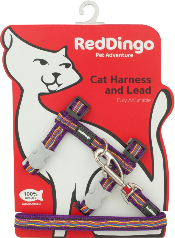 Postroj RD s vodítkem - kočka- Dreamstream Purple