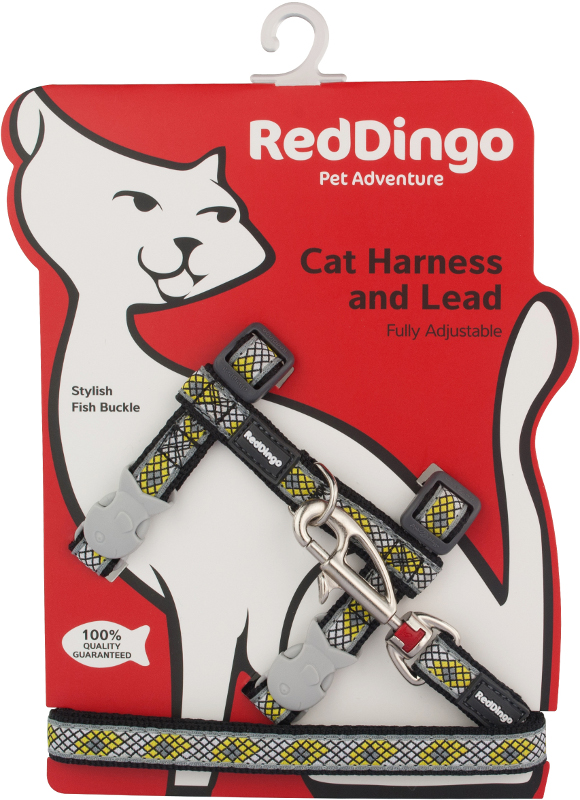 Postroj RD s vodítkem - kočka- Monty Black