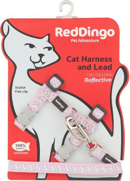 Postroj RD s vodítkem - kočka- Ziggy Rfx - Růžová