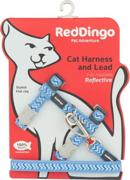 Postroj RD s vodítkem- kočka- Ziggy Rfx- Stř.Modrá