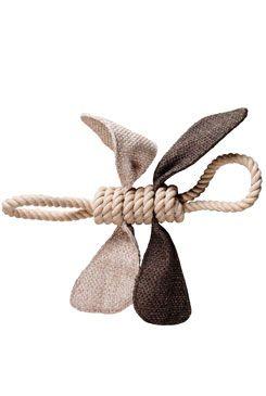 Hračka pes Motýl z provazů 68x40x36cm KAR