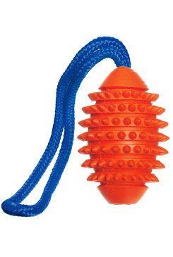 Hračka pes Míč šišatý gumový s provazem 32cm KAR