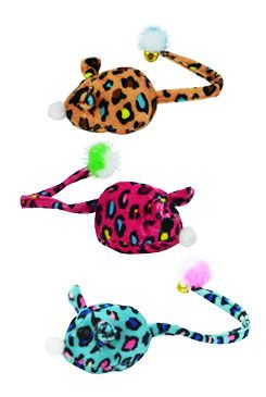 Hračka kočka myš textilní s rolničkou mix barev Zolux