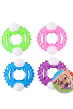 Hračka pes kousátko pro štěňata 10x10cm, mix barev