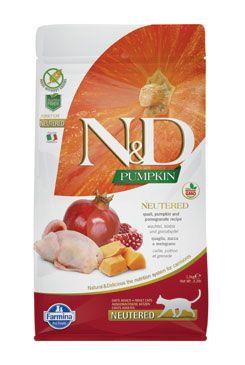 N&D GF Pumpkin CAT NEUTERED Quail & Pomegranate 5kg