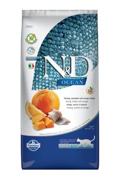N&D OCEAN CAT GF Adult Herring, Pumpkin & Orange 5kg