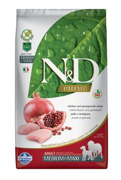 N&D PRIME DOG Adult M/L Chicken & Pomegranate 2,5kg