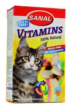 Sanal kočka Vitamins kalcium s vitamíny 100tbl