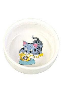 Miska keramická kočka s motivem 0,3l 11cm TR