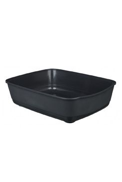 WC kočka bez rámu Classic tm. šedá 46x36x12cm TR