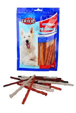 Dentafun Tyčinky Dog Bits krouc. buvolí  kůže 260g TR