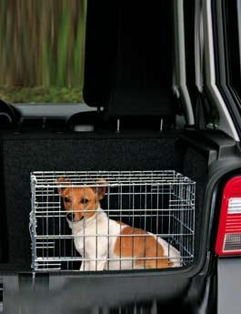 Klec do auta pro psa kovová 62x54x48cm 2x dveře TR