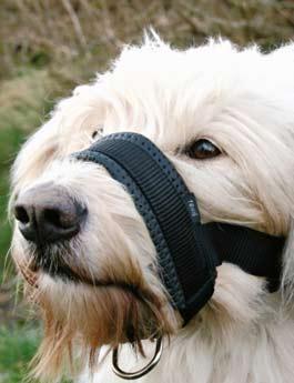 Náhubek fixační nylon podložený pes L 18-30cm TR