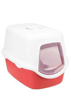 WC kočka kryté domek VICO 40x40x56 TR červená/bílá