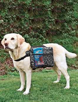 Ruksak na záda pro psa nylon M 23x15cm TR