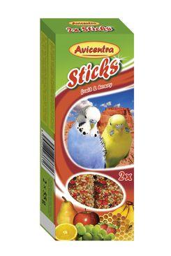 Avicentra tyčinky andulka - ovoce+med 2ks
