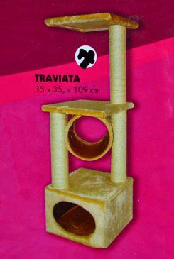 Škrábadlo Traviata pískové 35x35x109 cm