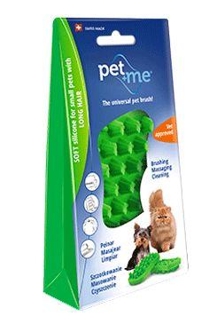 PET and ME kartáč pro kočky, dlouhá srst, zelený