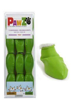 Botička ochranná Pawz kaučuk Tiny sv.zelená 12ks