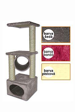 Škrábadlo Traviata bordó 35x35x109 cm