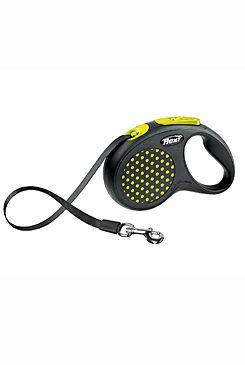 Vodítko FLEXI Design S pásek 5m žlutá