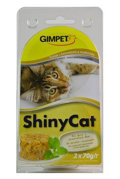 Gimpet kočka konz. ShinyCat tuňak/krev/maltóza 2x70g
