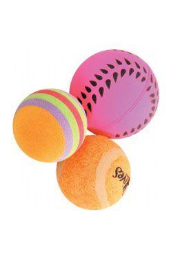 Hračka kočka sada míčků 3ks 4cm oranžová Zolux