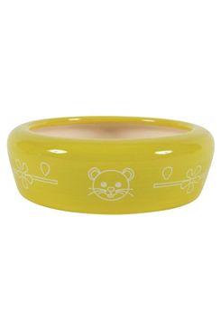 Miska keramická kočka 350ml žlutá Zolux