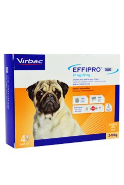 Effipro DUO Dog S (2-10kg) 67/20 mg, 4x0,67ml