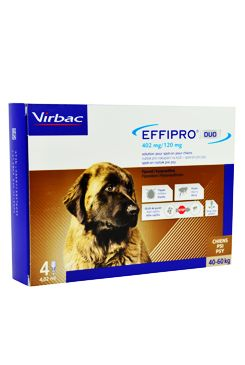 Effipro DUO Dog XL (40-60kg) 402/120 mg, 4x4,02ml