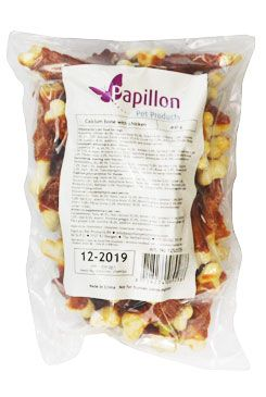 Papillon suš.poch. Calcium bone with chick. 400g pes